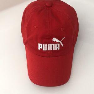 PUMA red/white trucker cap adjustable size